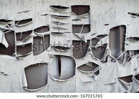 tear fabric background. - stock photo