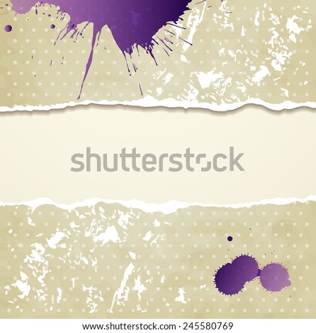 Tear paper on abstract  background - stock photo
