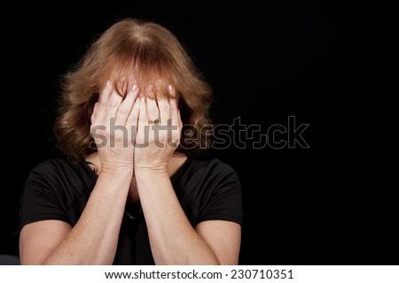 Tearful Woman - stock photo