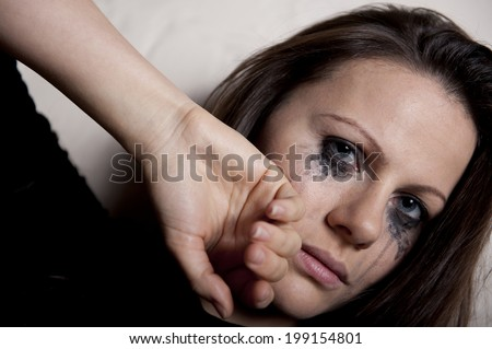 Tearful Young Woman