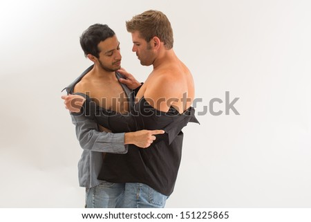 Teasing Gay Couple - stock photo