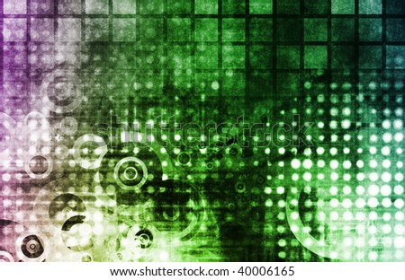 Tech Abstract Modern Grunge as a Background - stock photo