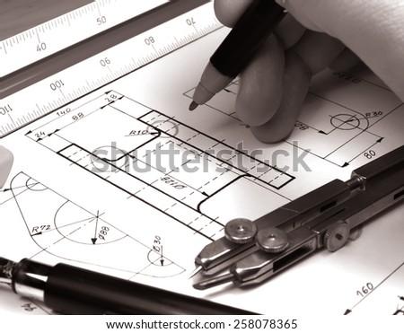 tech draw      - stock photo