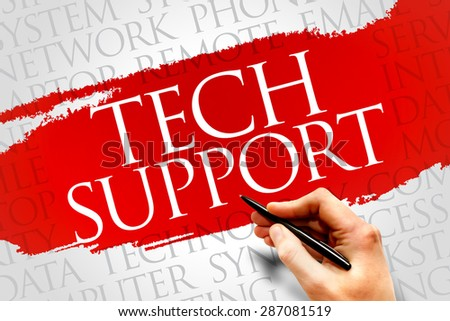 Tech support word cloud concept - stock photo