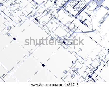 Technical cad documentation architectural background - stock photo