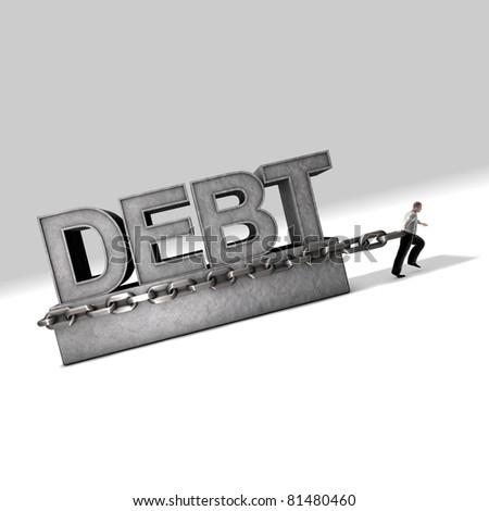 Technical Debt: A weight against progress - stock photo