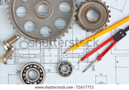 Technical Drawing Tools Stock Photo (100% Legal Protection) 72657751 ...