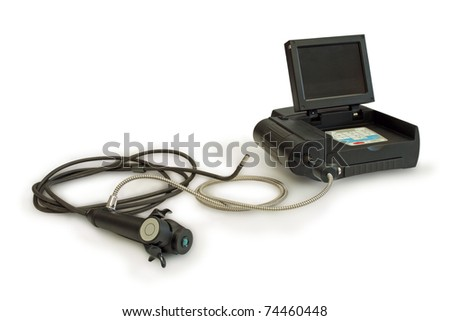 Technical endoscope. - stock photo