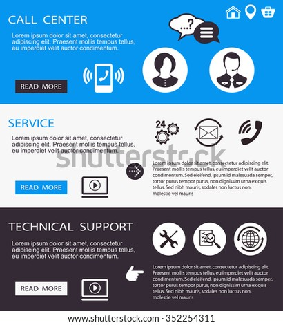 technical support cal center,l service - stock photo