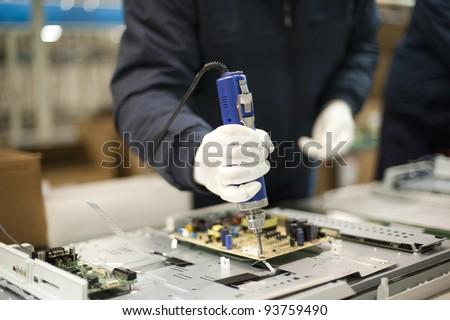 Technician at work - stock photo