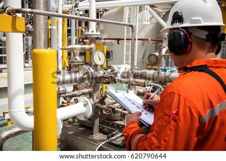 Techniciantechnician Oil Gas Refinery Industrial Job Stock