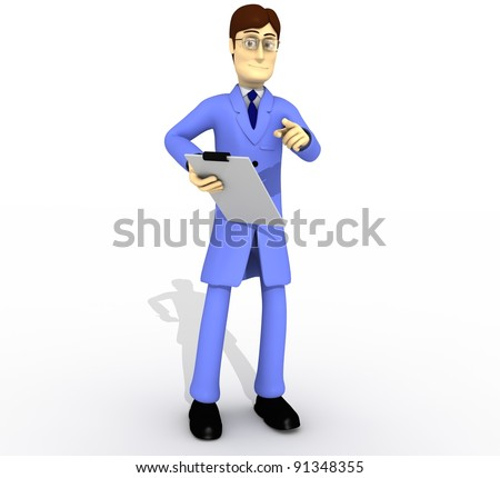 technician with clipboard whole body - stock photo