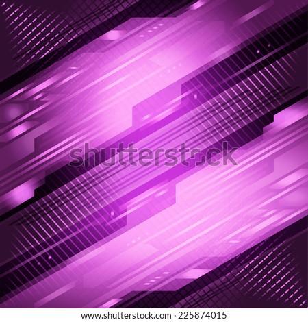 Techno abstract purple background  - stock photo