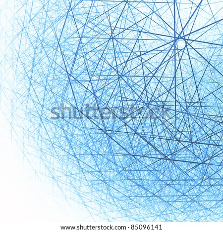 Techno cloud abstract background. Lowpoly polygonal triangles design - stock photo