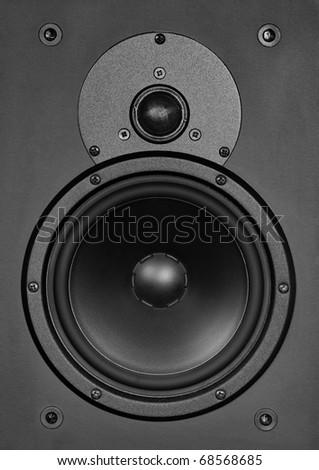 Techno (music) background - loudspeaker - stock photo