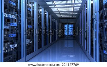 Techno Room - stock photo