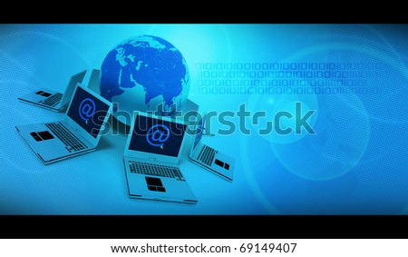 Technologic background - stock photo