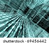 technological background with binary code - stock photo