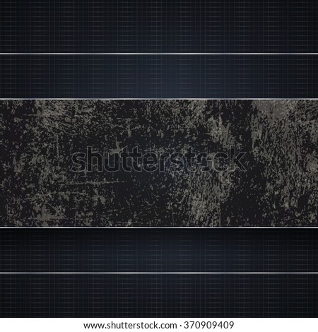 Technological dark blue background with a brown dirty stripe - stock photo