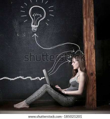 technological ideas - stock photo