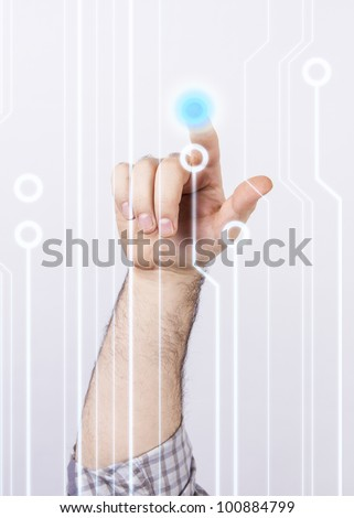 Technological touch - stock photo