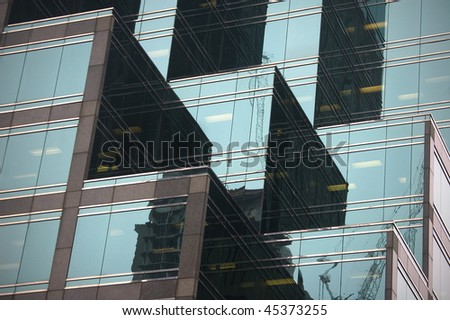 technology abstract building glass background - stock photo