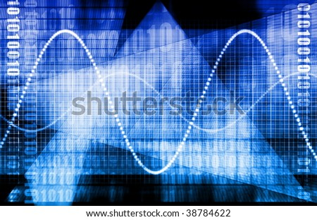 Technology Abstract World Background as Clip Art