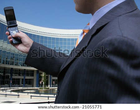 Technology and business - stock photo