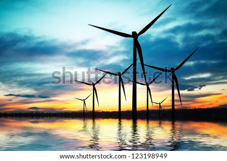 Technology and Environment - stock photo