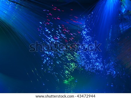 technology background, bunch of the optical fibres.see more in my portfolio - stock photo