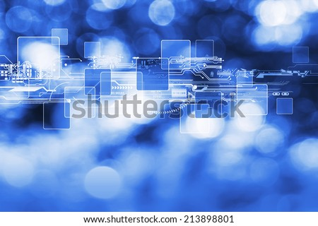 Technology background design - stock photo
