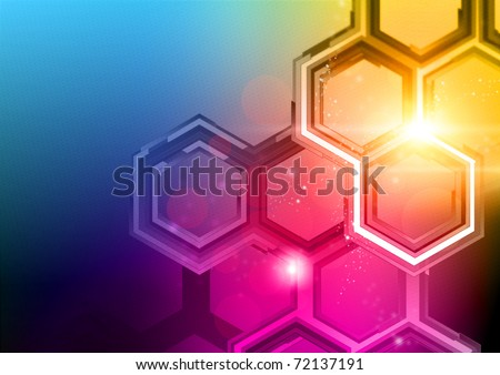 Technology Background Design. HD and richly detailed abstract pattern and lights