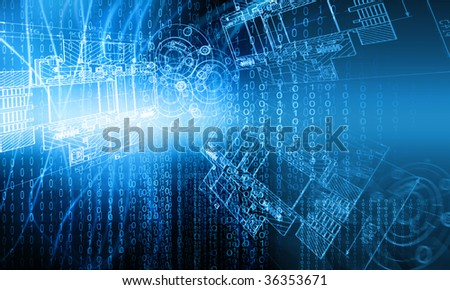 Technology background, from series best concept of global business - stock photo