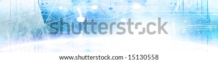 Technology banner with an integrated radar screen - stock photo