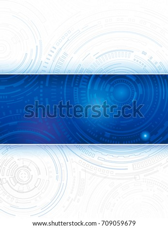 Technology blue abstract background design.