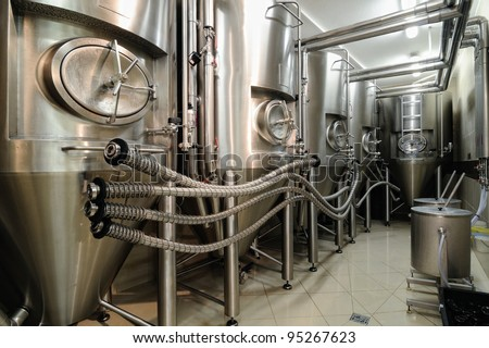technology brewery - stock photo