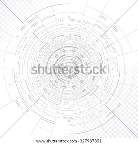 Technology circular structure abstract background. - stock photo