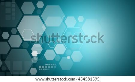 Technology communication concept : Polygon eternity - stock photo