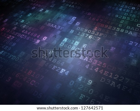 Technology concept: binary digital background, 3D render
