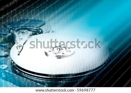 Technology concept: Hard drive - stock photo
