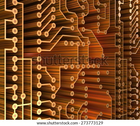 Technology. 3D. PC Card - stock photo