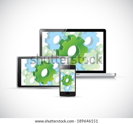 technology electronics industrial concept illustration design over a white background - stock photo