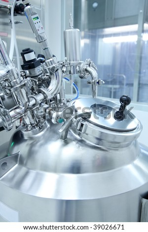 Technology equipment in a pharmaceutical manufacturing facility - stock photo