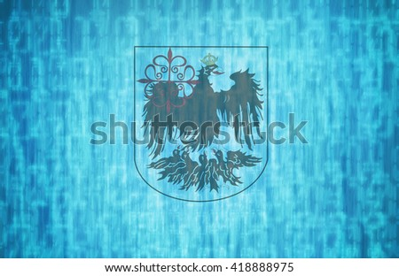 technology flag of one of administrative divisions of argentina city of called buenos aires - stock photo