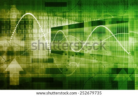 Technology Framework with a System Network Big Data - stock photo