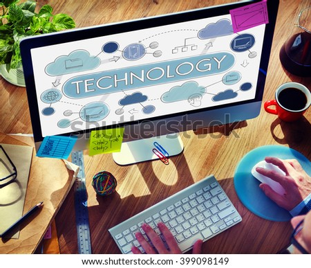 Technology Global Communication Connection Globalization Concept - stock photo