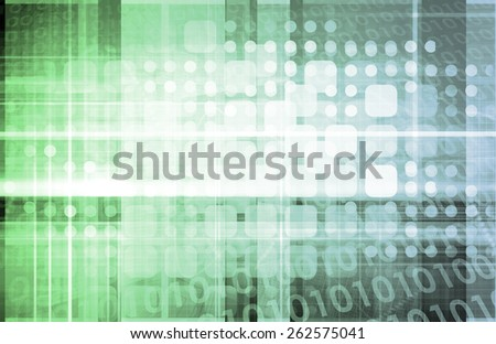 Technology Grid Abstract as a Concept Art - stock photo
