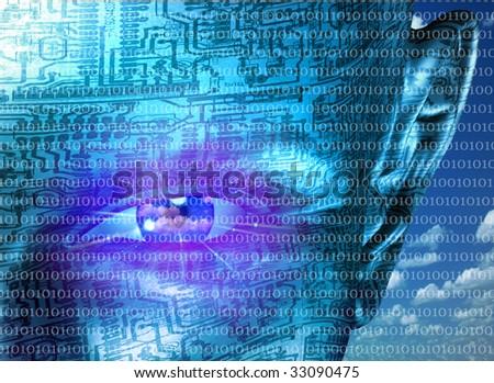 Technology Human - stock photo