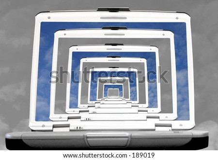 Technology is in colour 2 - stock photo