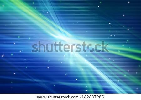 technology network light stripes blue green background  - stock photo
